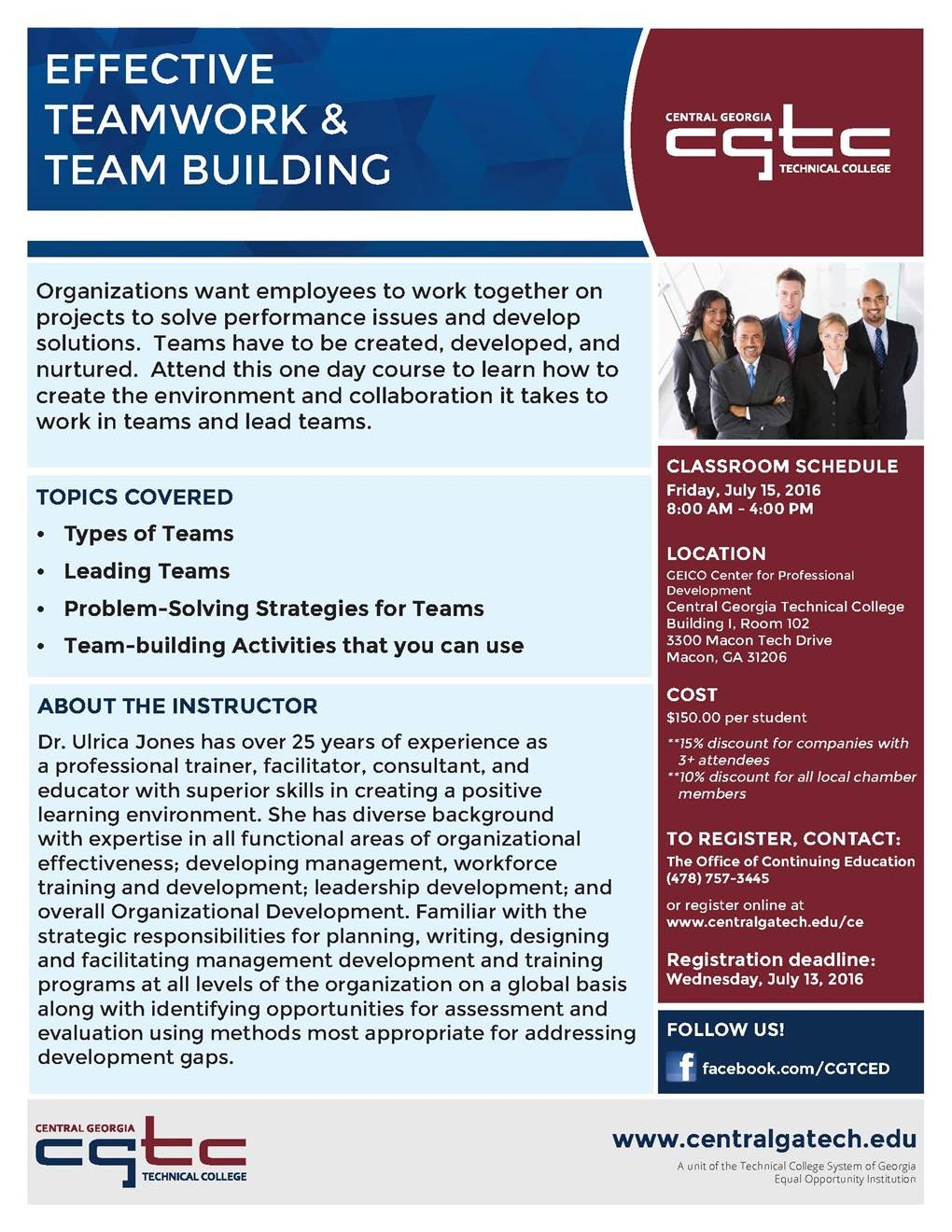 CGTC Effective Teamwork & Team Building Class
